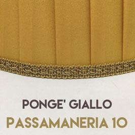 IMPERO PLISSE' PONGE' GIALLO CON PASSAMANERIA 10