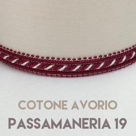 CONO PVC COTONE AVORIO CON PASSAMANERIA 19