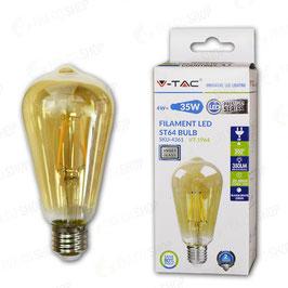 Lampadina Vintage a Filamento Led E27 4 Watt 350 Lumen A+
