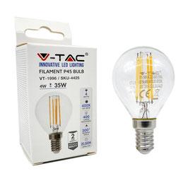 Lampadina Filamento Led E14 Potenza 4 Watt 400 Lumen A+
