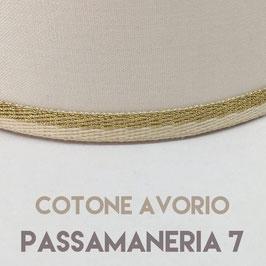CONO PVC COTONE AVORIO CON PASSAMANERIA 7