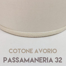 VENTOLA SAGOMATA COTONE AVORIO PASSAMANERIA 32