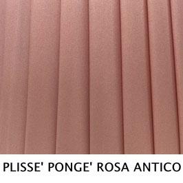 CONO PLISSE' SENZA PASSAMANERIA PONGE' ROSA ANTICO