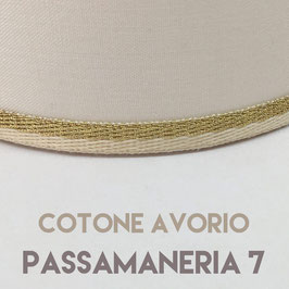 VENTOLA SAGOMATA COTONE AVORIO PASSAMANERIA 07