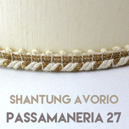 VENTOLA SAGOMATA SHANTUNG AVORIO PASSAMANERIA 27