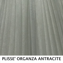 IMPERO PLISSE' ORGANZA ARGENTO SENZA PASSAMANERIA