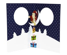 Weihnachtsmann mit Päckchen