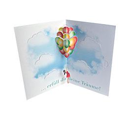 Geburtstagskarte Erfüll dir deine Träume (Geldkarte)