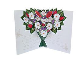 Geburtstagskarte mit Blumenstrauß