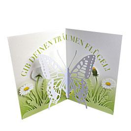 Geburtstagskarte mit Schmetterling