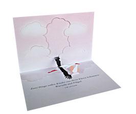 Glückwunschkarte zur Geburt (Mädchen)