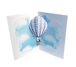 Glückwunschkarte zur Hochzeit Heizluftballon (Geldkarte)
