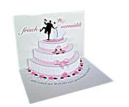 Glückwunschkarte zur Hochzeit Hochzeitstorte