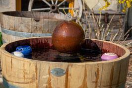 Kugel-Brunnen Metallkugel