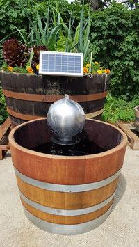 Kugel-Brunnen Edelstahl ⚫