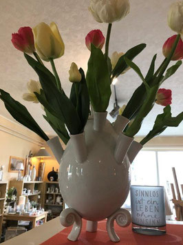 Tulpenvase mit Tüllen, 29 cm