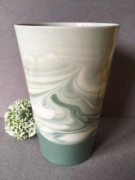 DH-Vase groß, 21 cm, neue Farbglasur grün