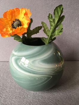 Kugelvase groß, 10 cm, neue Farbglasur grün
