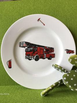 """Teller flach 21 cm """"Feuerwehr"""""""