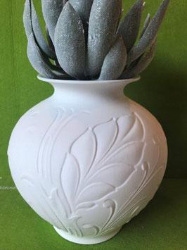 Reliefvase bauchig, 15 cm, glasiert ODER matt