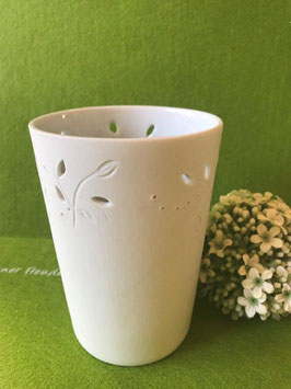 """Designhouse-Vase klein, 12 cm, matt, """"Zweige-Relief"""""""