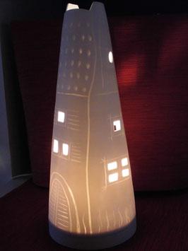 Leucht - Turm 36 cm weiss, matt
