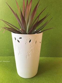 """Designhouse-Vase mittel, 16 cm, matt, """"Zweige-Relief"""""""