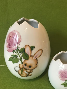 "Ei-Vase mittel, 15 cm, ""Blütenhase (Rose)"""