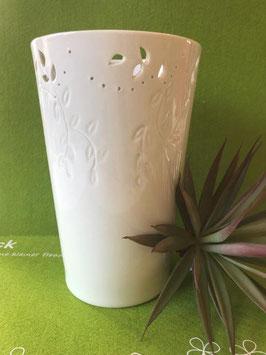 """Designhouse-Vase groß, 21 cm, matt, """"Zweige-Relief"""""""
