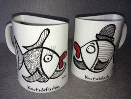 """Halbe Tassen """"Knutschfisch /-fischin"""