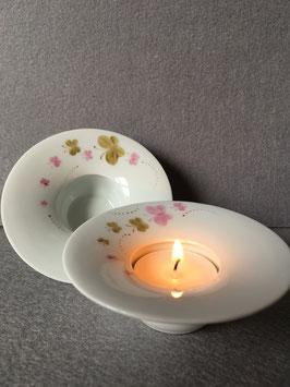 """Estrella - Teelicht flach, 10 cm """"Schmetterlingsflug / handgemalt"""""""