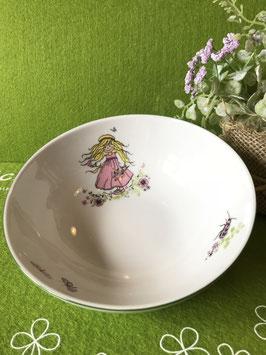 "Müsli-Schüssel 14 cm ""Mädchen rosafarbenes Kleid"""