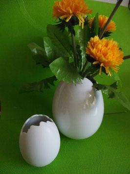 Ei-Vase klein, 10 cm, glasiert ODER matt