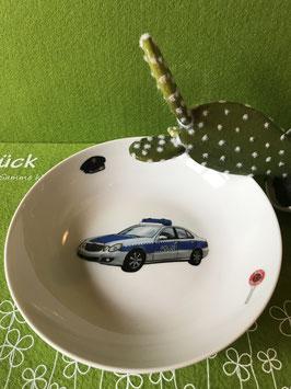 """Schale flach 19 cm """"Polizei"""""""