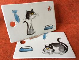 "Schnittenbrett ""Katze lustig"""