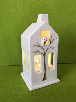 """Lichthaus mit Vogel """"Handgemalter Baum"""""""