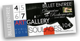 BILLET ENTREE EXPO PIERRE SOULAGES