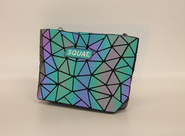Leuchtende Squat. Handtasche farbig, das Original.