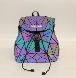Leuchtender Squat. Rucksack farbig, das Original.