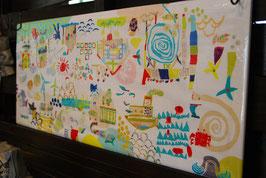 ついつい行きたくなるトンネル 壁画の日本手ぬぐい
