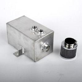 "Aluminium Öl Catchtank ""groß"" inkl. Filter ( 3 Liter )"