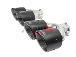 Bull-X Carbon Y-Endrohrset (versetzt) mit Kugelkopfanschl.