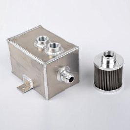 """Aluminium Öl Catchtank """"mittel"""" inkl. Filter ( 2 Liter )"""