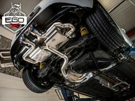 """EGO-X 3"""" Klappenabgasanlage ab Kat im R32-Look für VW Golf 5 Modelle inkl. GTI"""