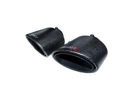 Bull-X Carbon Endrohrset oval 2x 126x94mm mit Kugelkopfanschluss