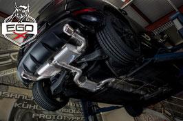 """EGO-X 3"""" Klappenabgasanlage ab Kat für VW Scirocco Modelle"""