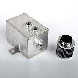 "Aluminium Öl Catchtank ""klein"" inkl. Filter ( 1 Liter )"