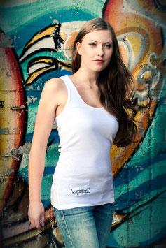 Kiezadel Racerback- white
