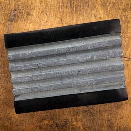 Seifenablage aus schwarzem Marmor