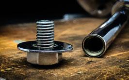 Provendi Seifenhalter (verchromt, Schraubverschluss), 'nackt', ohne Seife